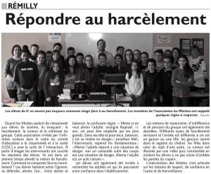 Répondre au harcèlement - Rémilly le 20/01/2017