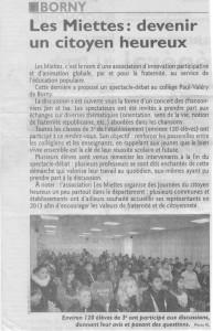 Article Du Républicain Lorrain : 05-12-2012