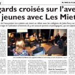 Regards croisés sur les jeunes avec Les Miettes : Metz 31-01-2013